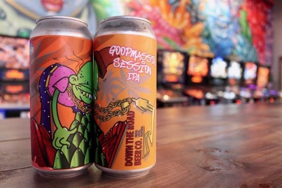 Down the Road GoopMassta Session IPA cans BeerPulse