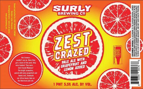 crazy zesty snarling label beerpulse ttb approved not necessarily final