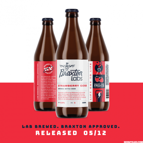 Braxton Labs Strawberry Gose bottles BeerPulse