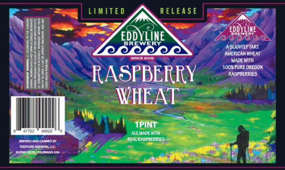 Eddyline Raspberry Wheat label BeerPulse