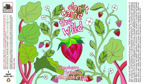 Fiction Beer Dont Tame The Wild Crowler Label BeerPulse II